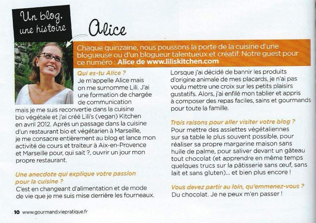 Gourmand article
