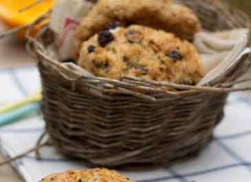 English scones aux raisins (vegan)