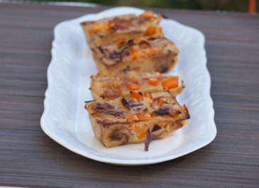 Clafoutis carotte, cumin et coco (vegan, sans gluten)