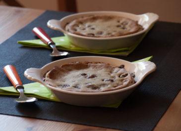 Clafoutis sans œuf et sans gluten au thé matcha (vegan, sans gluten)