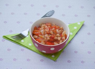 Haricots blancs à la tomate et au poivron (vegan, sans gluten)