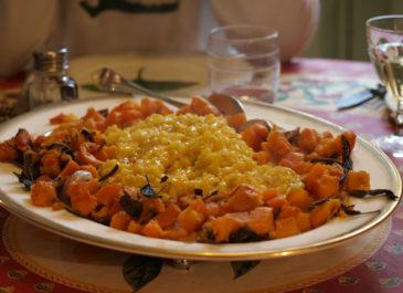 Risotto au safran et citron confit (vegan)