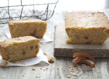 Cake à la farine de maïs et aux oranges confites (vegan)