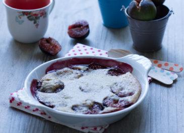 Clafoutis aux figues et au lait de coco (vegan)