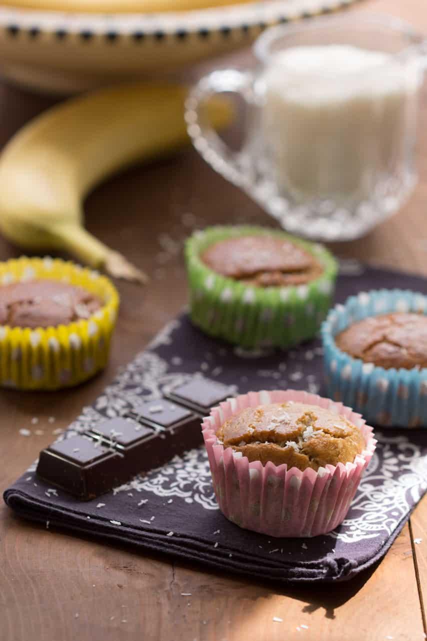 Muffins sans gluten banane
