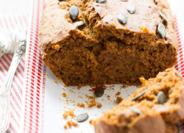 Pumpkin bread sans gluten (vegan)