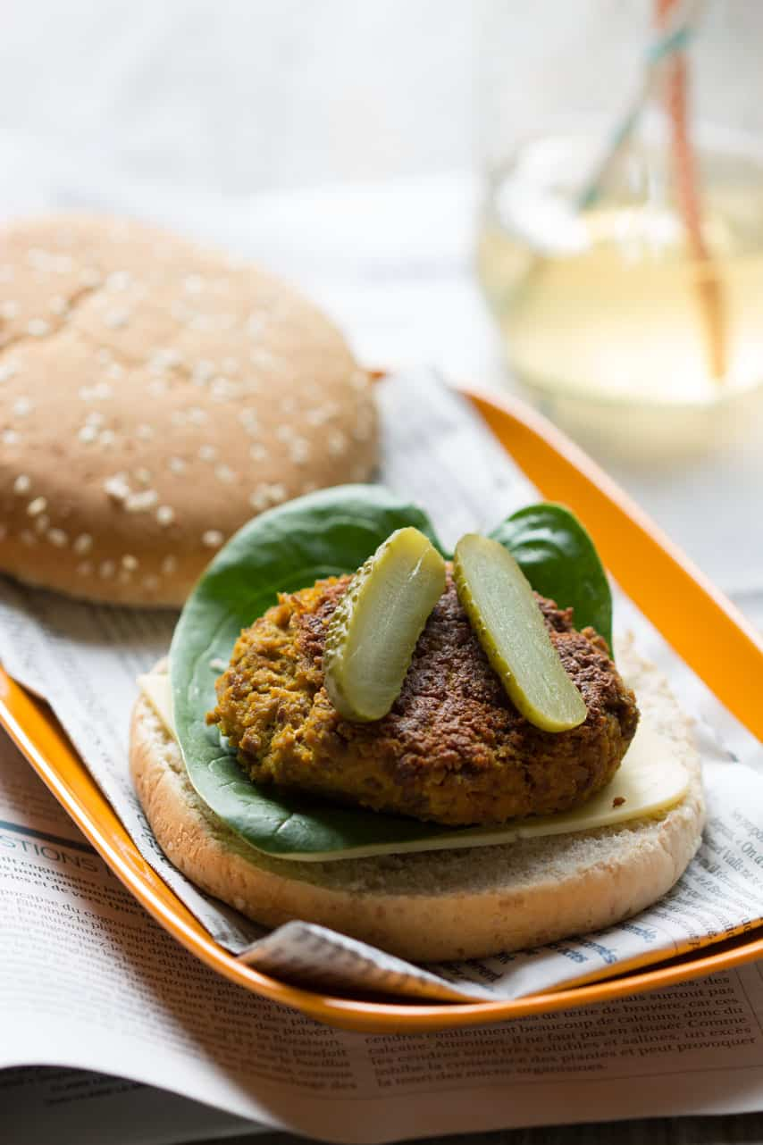 Cheeseburger vegan