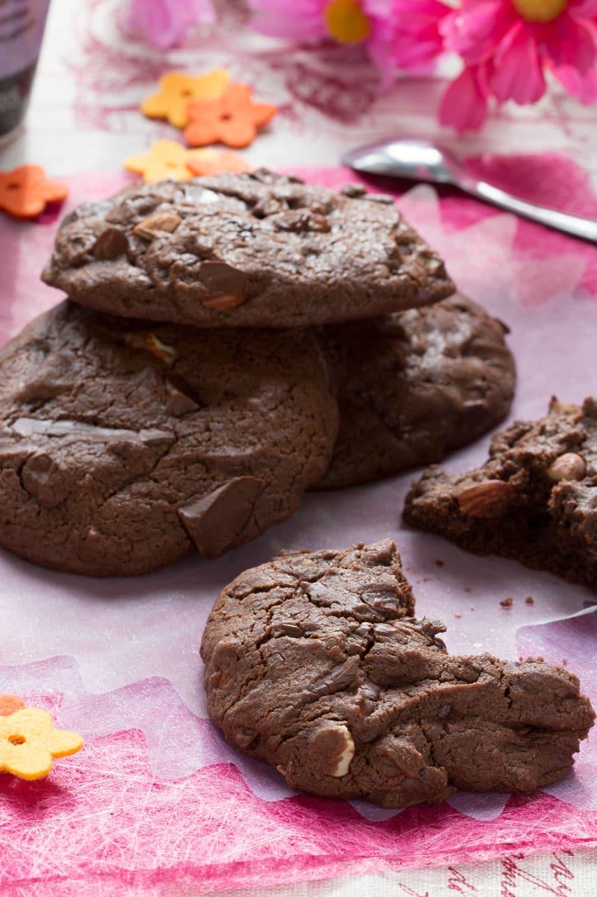 Cookies chocolat et amandes
