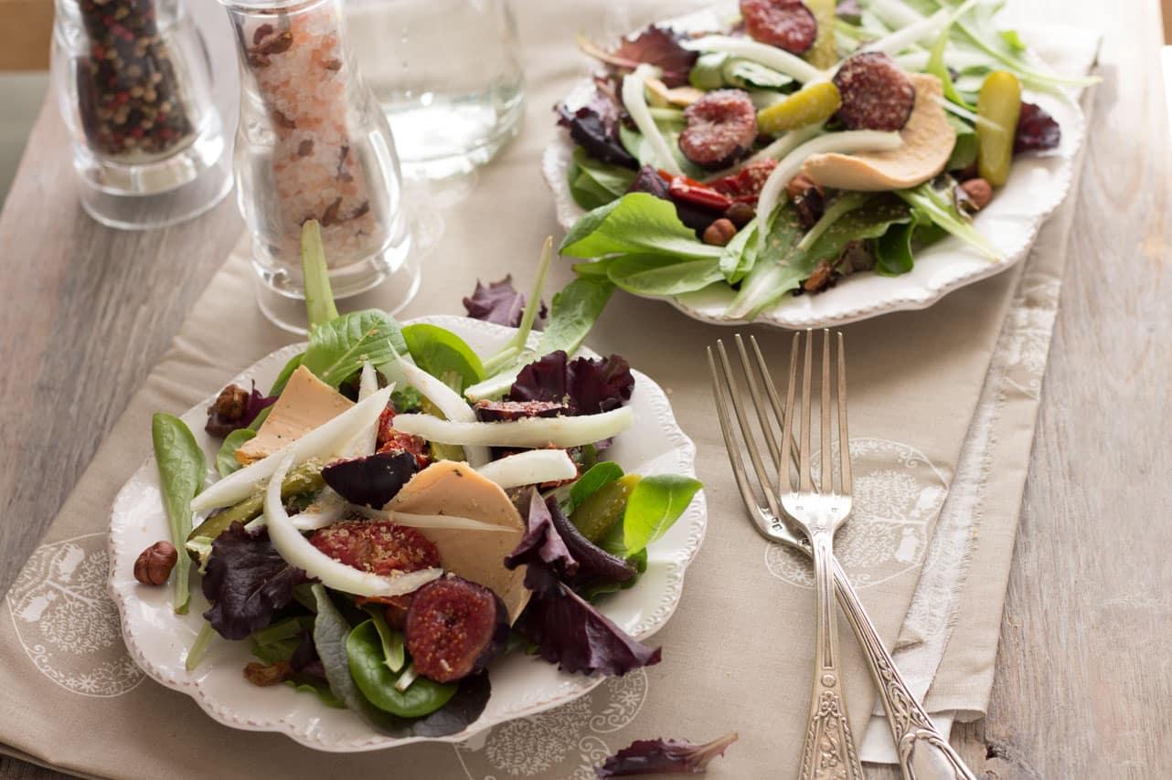 Salade au faux gras 2