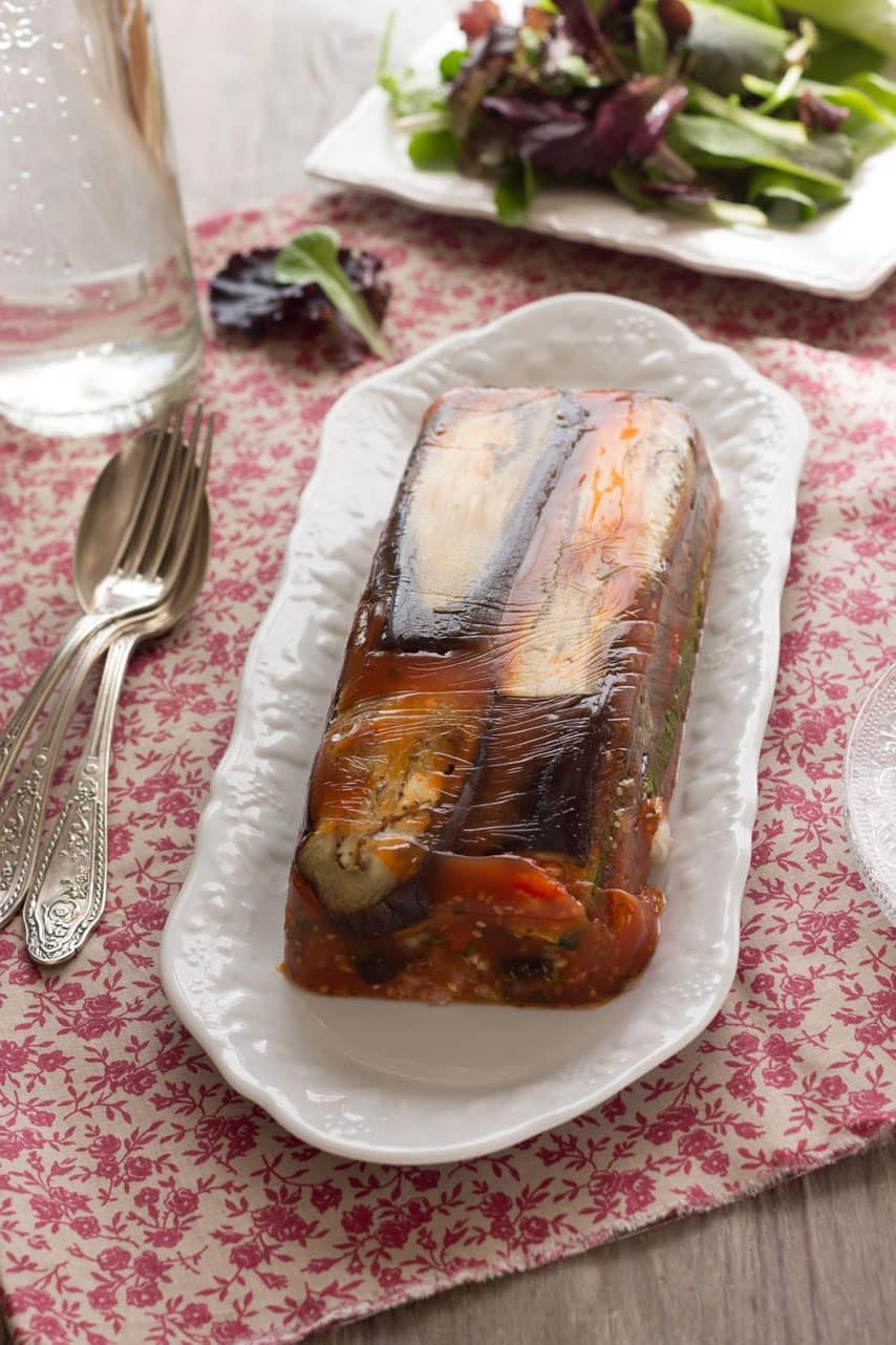 Terrine de légumes à l'agar-agar