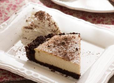 Cheesecake sans gluten au brownie (vegan)
