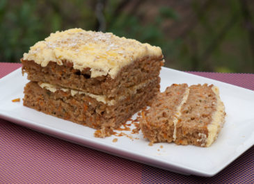 Carrot cake vegan (gâteau à la carotte) (vegan)