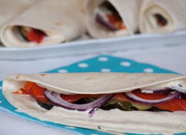Wrap aux légumes grillés et mayonnaise végétale (vegan, sans gluten)