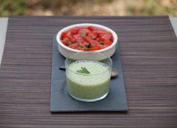 Velouté de concombre et soja (vegan, sans gluten)