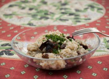 Risotto aux cèpes et à l'huile de truffe (vegan, sans gluten)