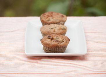 Petits cakes sans gluten à la châtaigne, tomates séchées et câpres (vegan, sans gluten)