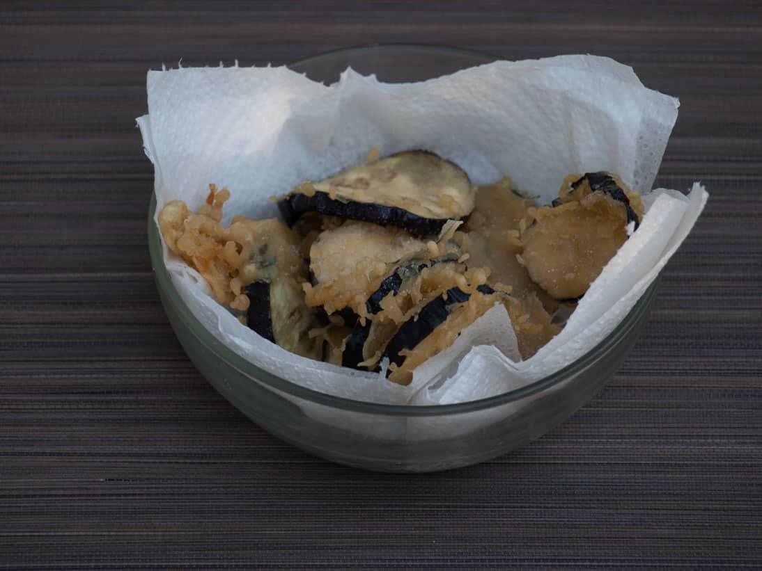 Beignets d'aubergine sans gluten