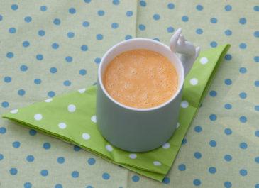 Velouté de potiron au gingembre et au lait de coco (vegan)