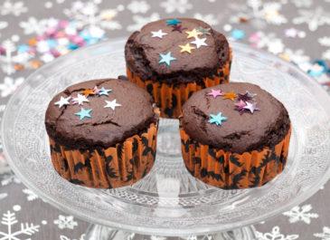 Muffins au chocolatsans gluten, sans œuf et sans lactose (vegan)