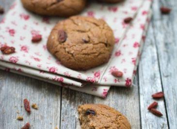 Cookies sans œuf sans gluten aux baies de goji (vegan)