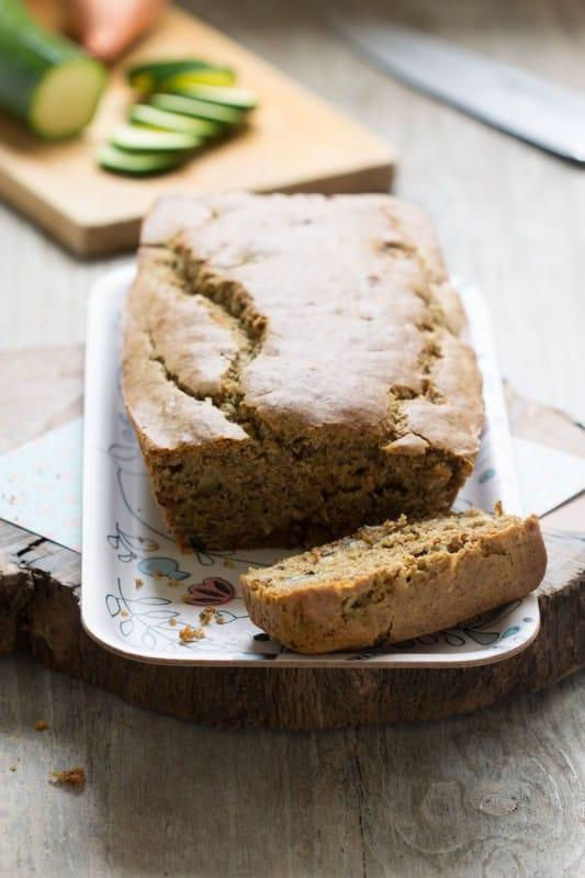 Cake au petit épeautre, courgette et curry, okara d'amande