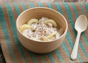 Concombres à la crème de soja (vegan)