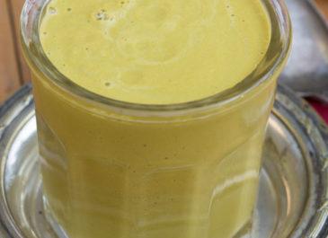 Soupe crue aux carottes, noix de cajou et gingembre (vegan)