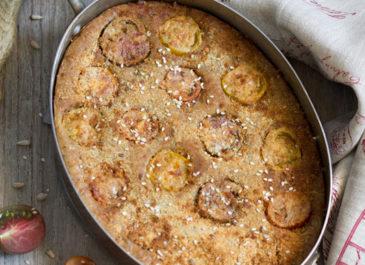 Clafoutis aux tomates sans gluten (vegan)