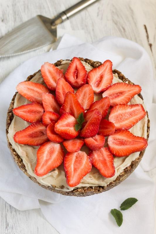 Tartes aux fraises vegan sans gluten