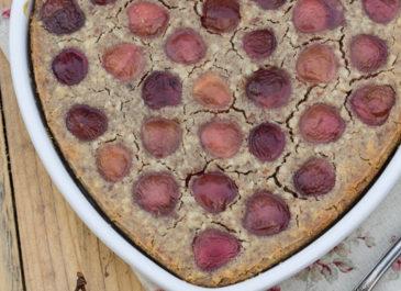 Simplissime clafoutis aux cerises sans gluten (vegan)