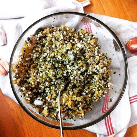 Salade de sarrasin et lentilles corail