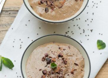 Crèmes aux graines de chia, coco et cacao (vegan)