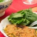 Galettes au tofu soyeux et maïs, façon pancakes salées