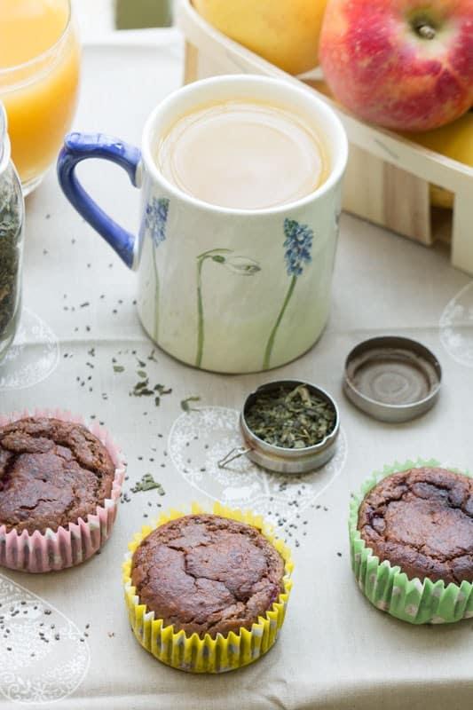 Muffins aux fruits rouges, graines de chia, açaï et maca