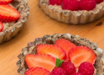 Tartelettes healthy et gourmandes aux fruits rouges (vegan)