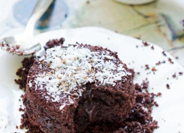 Fondant au chocolat végétalien avec ou sans gluten (vegan)