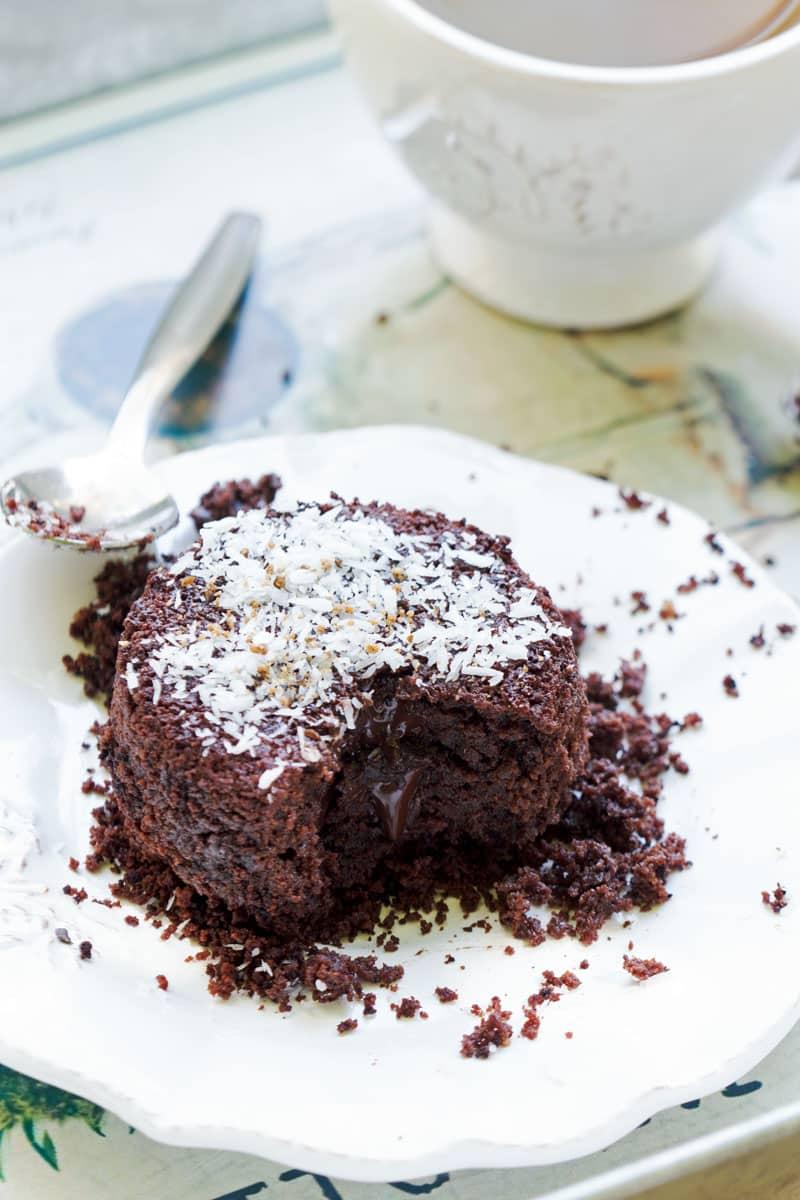 Fondant au chocolat végétalien et sans gluten