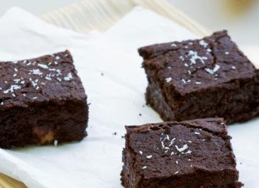 Brownie végétalien aux haricots rouges et patate douce (vegan)