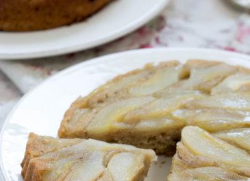 Gâteau renversé aux poires, avec ou sans gluten (vegan)