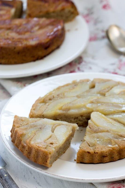 Gâteau renversé aux poires 3