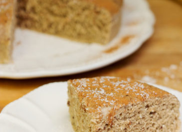 Gâteau digeste sans gluten sans FODMAPs (vegan)