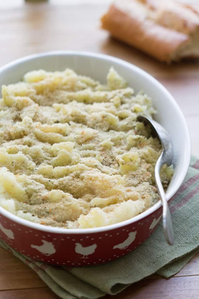 Écrasée de pommes de terre et céleri-rave