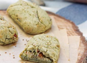 Chaussons sans gluten courgette, tomate et olives (vegan, sans gluten)