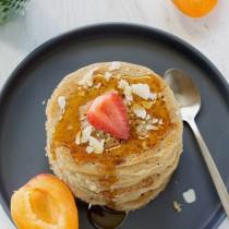 Pancakes à l'aquafaba et lait de coco