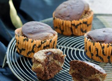 Muffins marbrés banane et chocolat sans gluten (vegan)