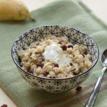 Porridge minute sans lait noix de coco baies de goji