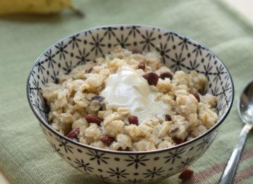 Porridge sans lait à la noix de coco et aux baies de goji (vegan)