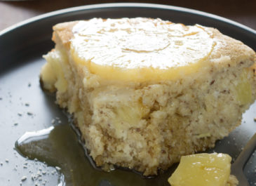 Gâteau sans FODMAPs à l'ananas (vegan)