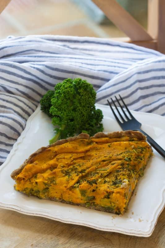 Quiche sans gluten aux carottes