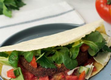 Galettes aux steaks de quinoa et haricots noirs Végétal Gourmand (vegan)